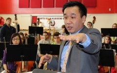 Ohio University orchestra students visit high school orchestra