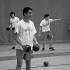 Senior Raabez Ahmad fends for himself during a dodgeball game.