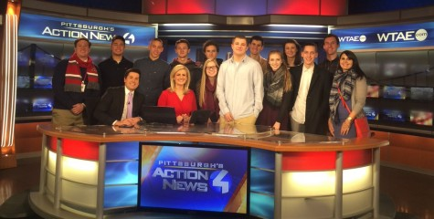 Journalism and TV Production classes tour WTAE studio