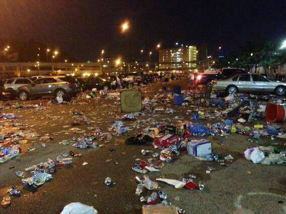 The aftermath of Kenny Chesney's concert in Pittsburgh, 2013