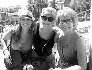 North Hills alum Maggie Marciniak, Sydney Brown, and Sra. Dirda enjoy the sites in Barcelona during their trip abroad last summer.
