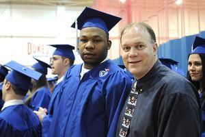 Dr. Dietrick with Duquense student Sam Ashaolu