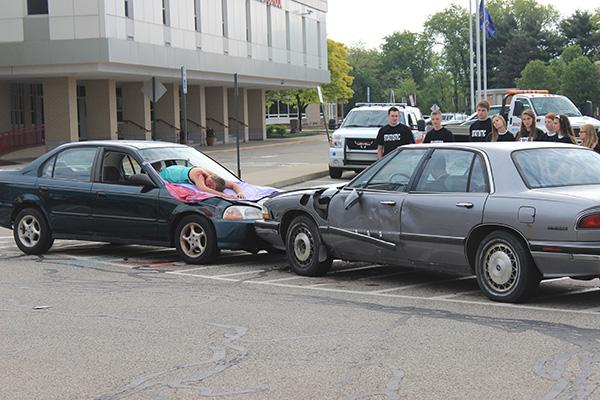 NH SADD Club demonstrates its annual Mock Crash