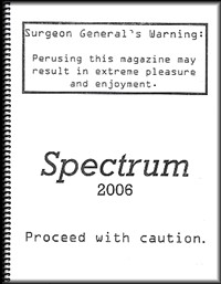 Cover for Spectrums 2006 issue