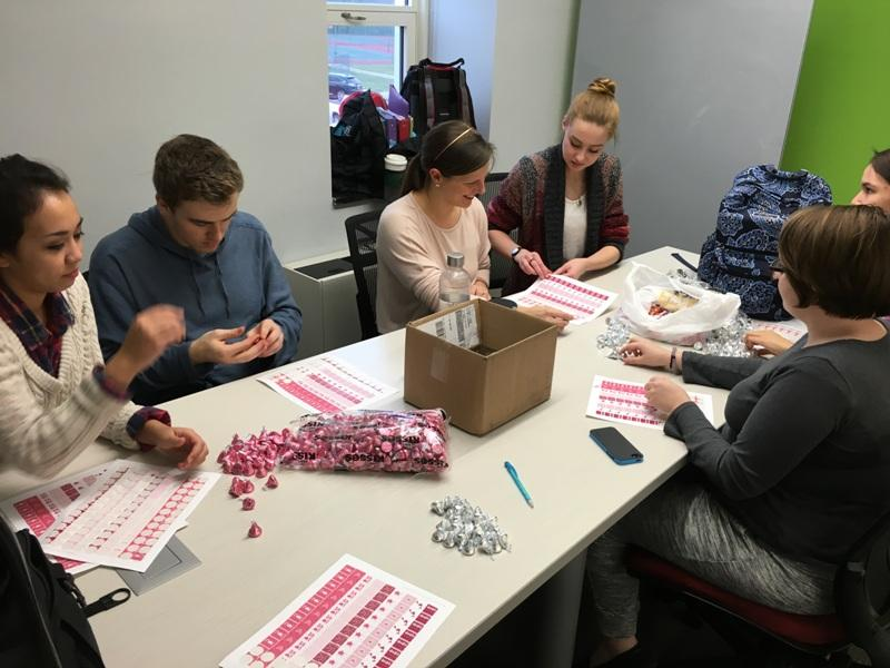 Poetry Club selling Valentine's Day themed candygrams